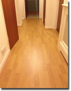 Lifestyle laminate fitted throughout a flat